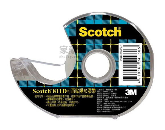 Scotch �i�A�K�������a 3M 811 19mm��32.9m  �����x 6��/�]